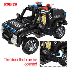 Special Police Riot Armored Vehicle Building Blocks Compatible Legoing City SWAT Weapon Gun Enlighten Bricks Toys For Child Gift(China)