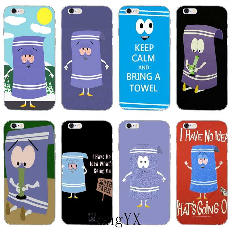 Towelie Towel South Park slim silicone TPU Soft phone cover case For Apple iPhone 4 4s