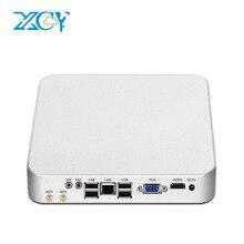 Celeron 1017U Мини-ПК Окна 10 4 ГБ Оперативная память 120 ГБ SSD Двухъядерные неттоп HDMI VGA WiFi HTPC настольных ПК Алюминий Для тела низкое потребление