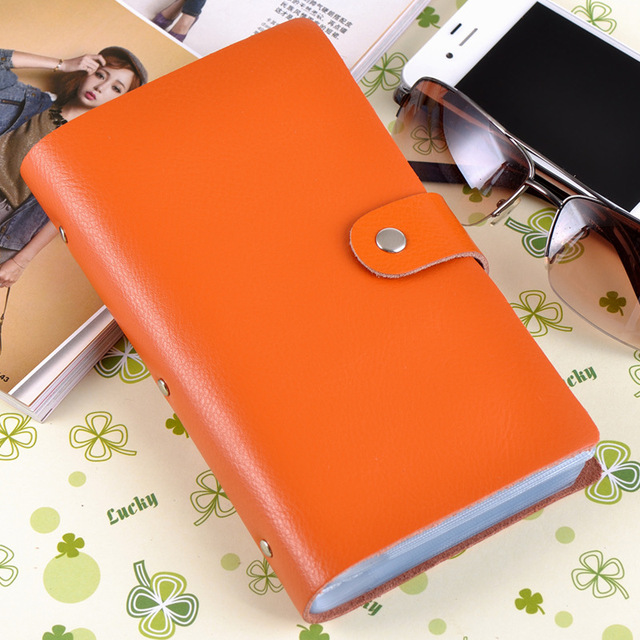 Men's and women's leather business gift card bag factory wholesale card bag clip creative 90 page name card bag