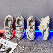 Chunky Sneakers Basket Femme Women Platform Sneaker Witte Dames Summer For Breathable Mesh Shoe