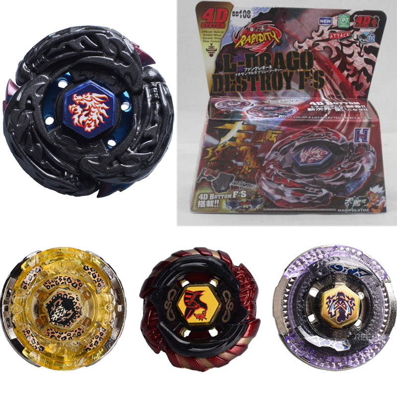 Beyblade Metal Fusion 4D Launcher Beyblade Spinning With Package Top Set Kids Game font b Toys