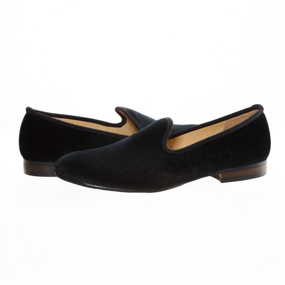 New Fashion Men Velvet Loafers Slip-On Dress Shoes Smoking Slippers Men/'s Flats