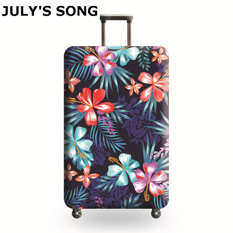 JULY'S SONG Brand Suitcase Elastic Protective Cover Luggage Cover Travel Accessories 18 to 32 inch Travel Trolley Suitcase Case цена 2017