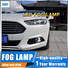 JGR 2008-2016 For Ford Ka led fog lights+LED DRL+turn signal lights Car Styling LED Daytime Running Lights LED fog lamps led front fog lights for ford fusion estate ju 2002 2008 car styling round bumper drl daytime running driving fog lamps