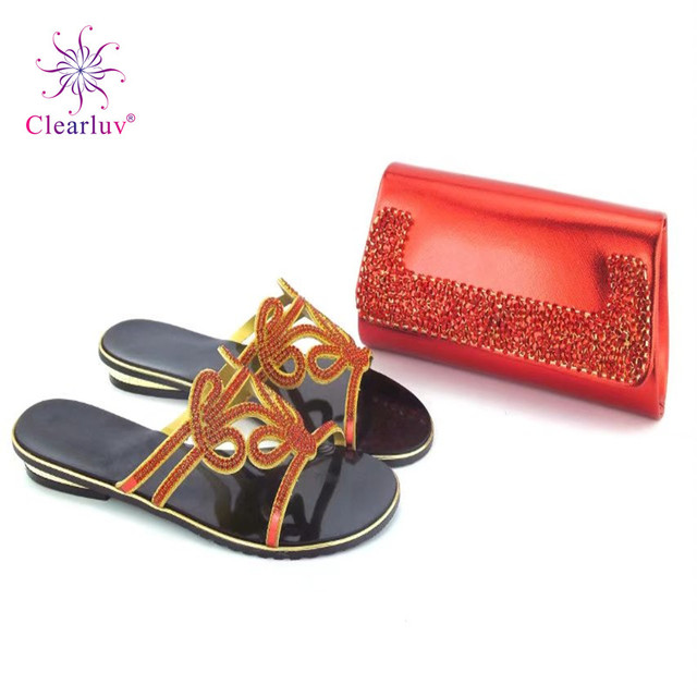 Clearluv red Matching Shoe and Bag Set Italian Fashion Matching Shoes and Bag  Set Women Shoes and Bag Set In Italy 249d4f7af37b