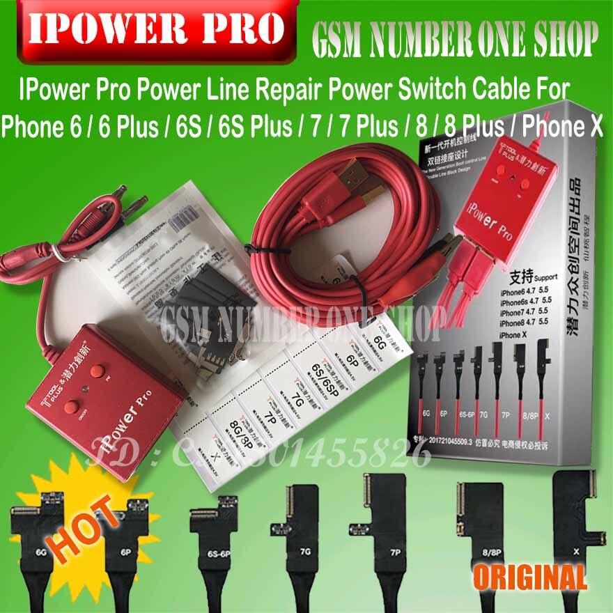 Alimentation iPower Test Câble Avec ON/OFF Commutateur iPower Pro pour iPhone 6g/6 p/ 6 s/6SP/7g/7 p/8g/8 p/X DC Puissance test de contrôle de Câble