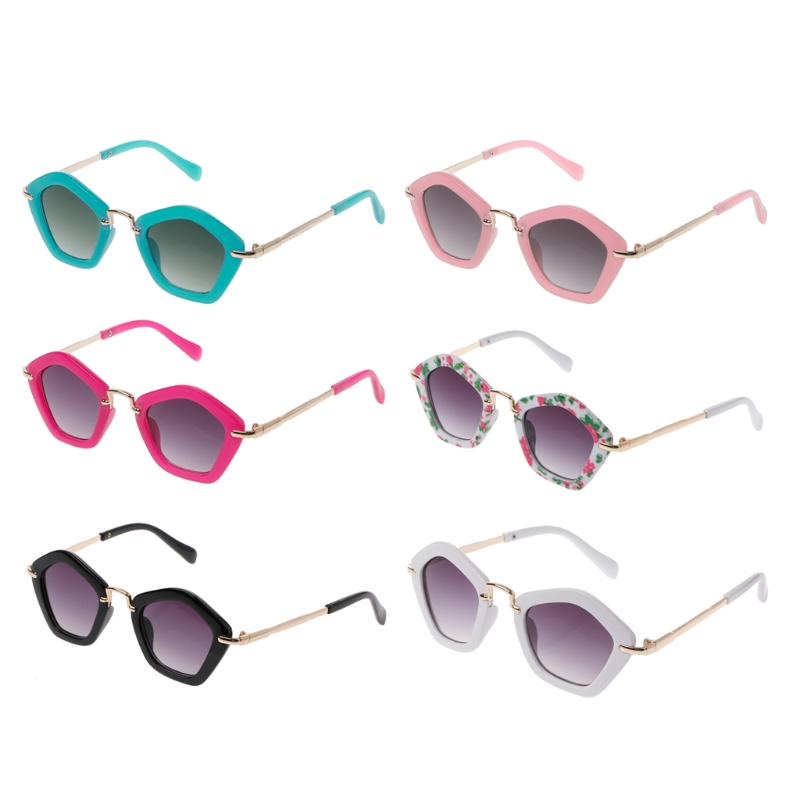 Cool Kids Sunglasses Polygon Children Boys Girls Sun Glasses Baby Eyeglasses Goggles Cute