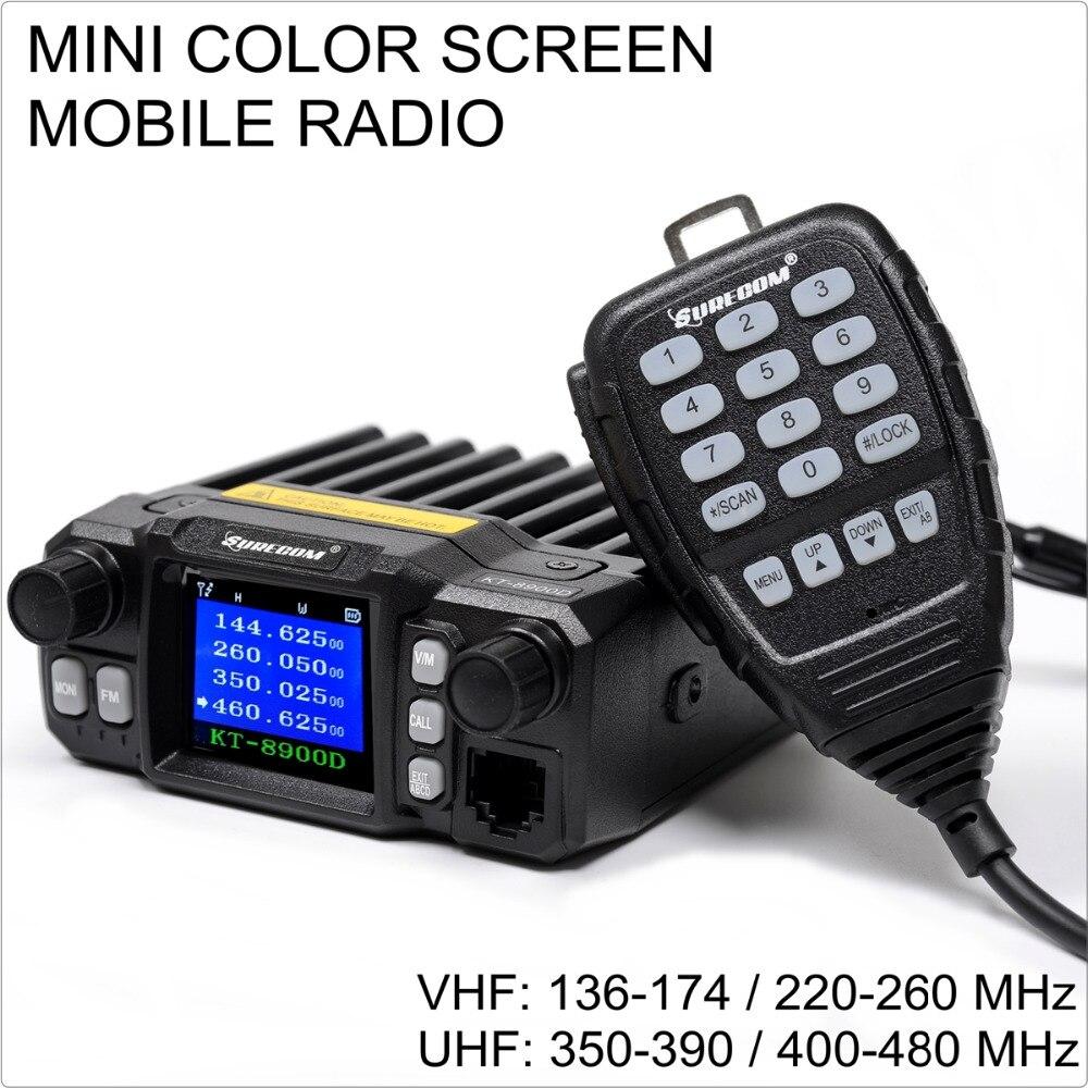 SURECOM KT-8900D 136-174/220-260/350-390/400-480 MINI COLOR SCREEN KT8900D MOBILE RADIOSURECOM KT-8900D 136-174/220-260/350-390/400-480 MINI COLOR SCREEN KT8900D MOBILE RADIO