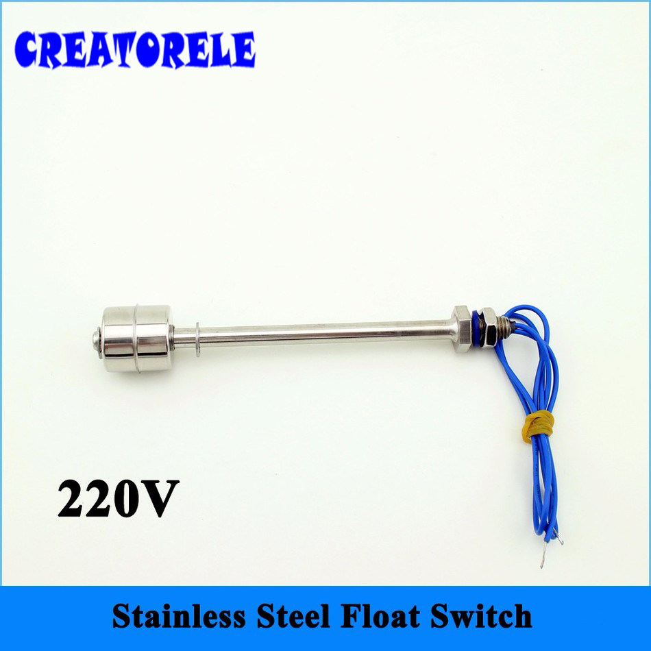 цена на 220v 50W 150mm 9.5mm/0.27 Stainless Steel Float Switch SFS15010 liquid Water level Sensor Horizontal