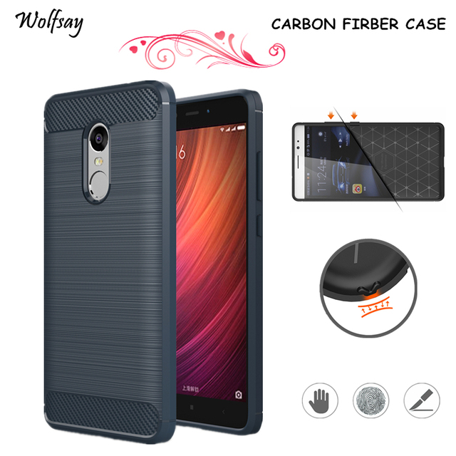 Wolfsay For Phone Cover Xiaomi Redmi Note 4 Case Rubber Phone Case For Xiaomi Redmi Note 4 Cover Fundas For Redmi Note 4 Cases