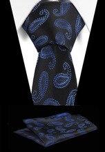 купить!  НОВЫЙ Плед Галстук Набор Для Мужчин Мода Галстук Платок мужские Классические Полосатые Шеи Галстук