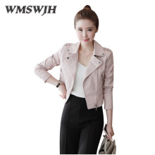 Fashion PU Leather font b Jacket b font 2017 Spring Autumn New font b women s