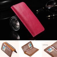 FLOVEME Genuine Leather Universal Wallet Pouch Case For Samsung Galaxy S4 Mini For All Phone Screen