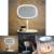 Estande de maquiagem Espelho Recarregável CONDUZIU A Luz de Mesa Lâmpada Cama Mesa Decoração Presente