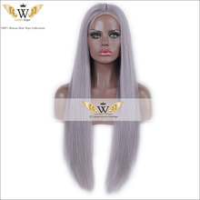 7A 130% Density  Brazilian  Purple Gray Lace Front  Wig For Black Woman Human Virgin  Hair Full Lace Wig With Baby Hair