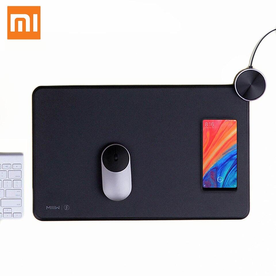Xiaomi Miiiw tapis de souris intelligent Qi chargement sans fil Xiaomi chargeur de téléphone sans fil pour Iphone X Xs Charge rapide tapis de souris de jeu