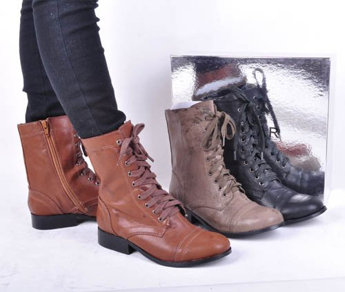 Shoes For Women fashion Low Heel Leather Boots More Colors