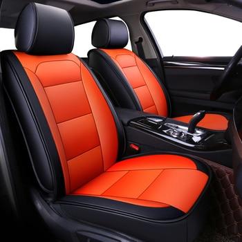 KOKOLOLEE leather car seat cover for Fiat All Models Ottimo 500 Panda Punto Linea Sedici Viaggio Bravo Freemont car accessories