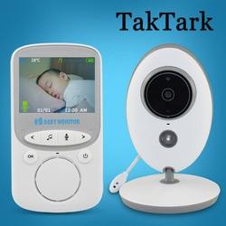 TakTark 2.4 بوصة فيديو لاسلكية مراقبة الطفل كاميرا ملونة إنترفون للرؤية الليلية رصد درجات الحرارة جليسة مربية