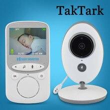 TakTark 2.4 אינץ אלחוטי וידאו בייבי מוניטור צבע מצלמה אינטרקום ראיית לילה טמפרטורת ניטור בייביסיטר נני