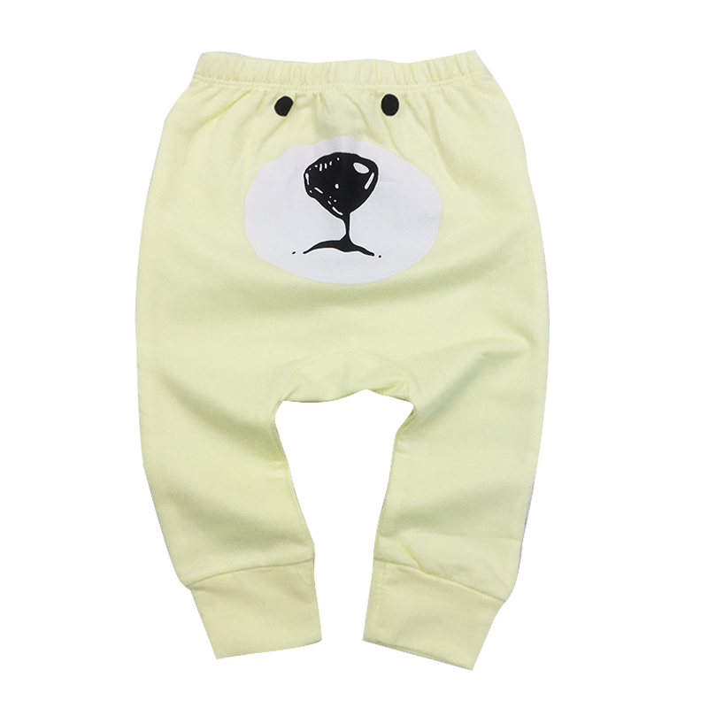 Baby Boy Girl Bear Pants Fashion Lattice Cotton Girls Harem For Casual newborn Trousers baby Clothes