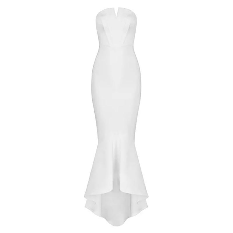 8e09f74ded4 Sweet D072 Ivoire Sexy Moulante Blanc Sirène Maxi Dames Robes Bretelles  Heart UEETq