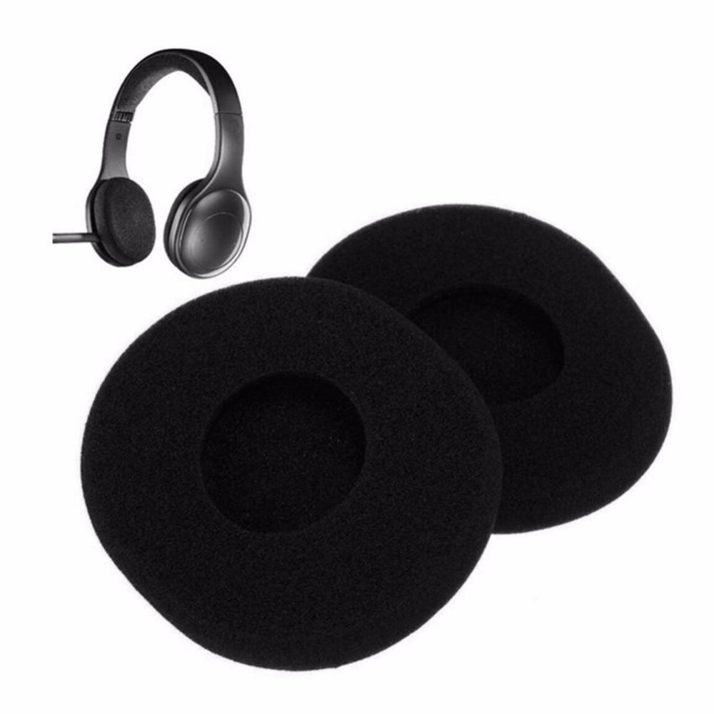 1 Juego Negro 1 Par De Almohadillas De Esponja De Repuesto Para Auriculares Logitech H800 Bueno Para El Chupete AntipiréTico Y La Garganta