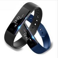 ID115 Smart Band Fitness Tracker Step Counter Activity Monitor Smart Wristband Alarm Clock Vibration for Iphone Android Phone