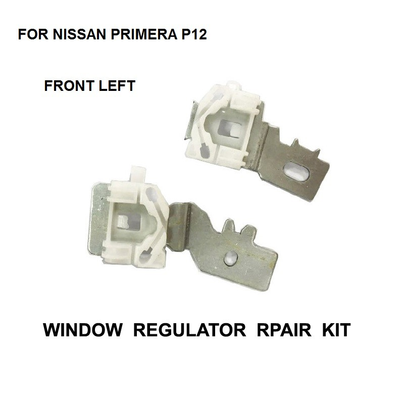 X2 PIECES IRON CLIPS FOR NISSAN PRIMERA P12 FRONT LEFT 2002-2007 ELECTRIC WINDOW REGULATOR REPAIR KIT SLIDER CLIP