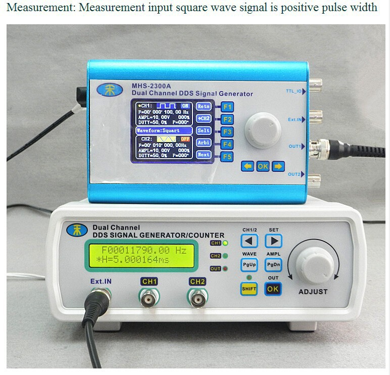 Купить MHS-5200P мощность Высокая Точность Цифровой двухканальный Генератор Сигналов dds генератор сигналов Произвольной формы 6 МГц Усилитель 80 кГц дешево