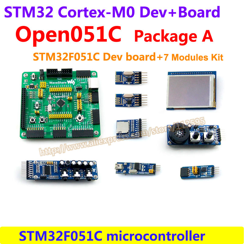 STM32 Board STM32F051C ARM Cortex-M0 STM32F STM32 Development Board(48MHz,64KB Flash)+7 Accessory Modules = Open051C Package A modules stm32 board stm32f051c arm cortex m0 stm32f stm32 development board 7 accessory modules open051c package a