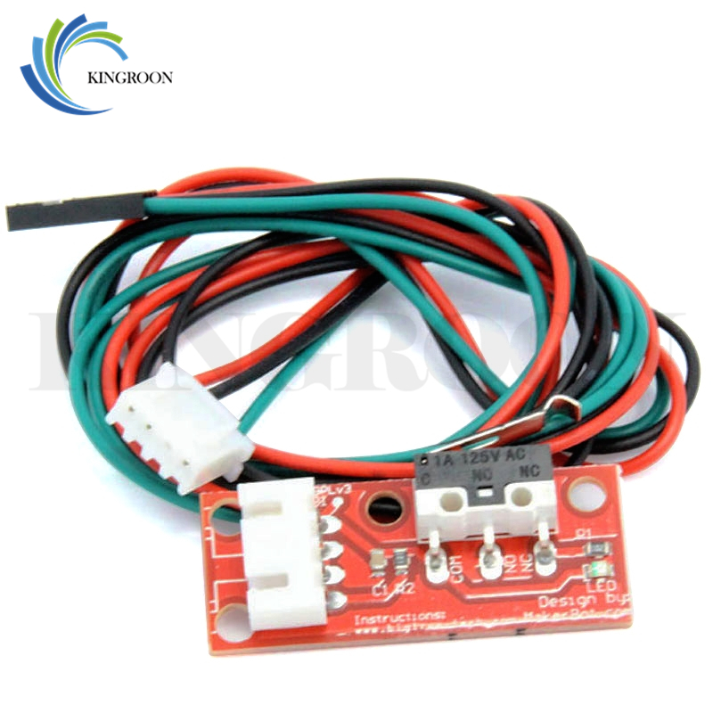 KINGROON 6pcs/lot Endstop Mechanical Limit Switches with 3Pin Cable 3D Printers Parts For RAMPS 1.4 Control Board Part Switch