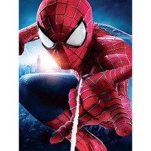 Алмазная живопись 5D «сделай сам» с изображением Человека-паука, вышитая бисером полный круглый бриллиант Алмазная мозаика для рукоделия вышитые наклейки картины