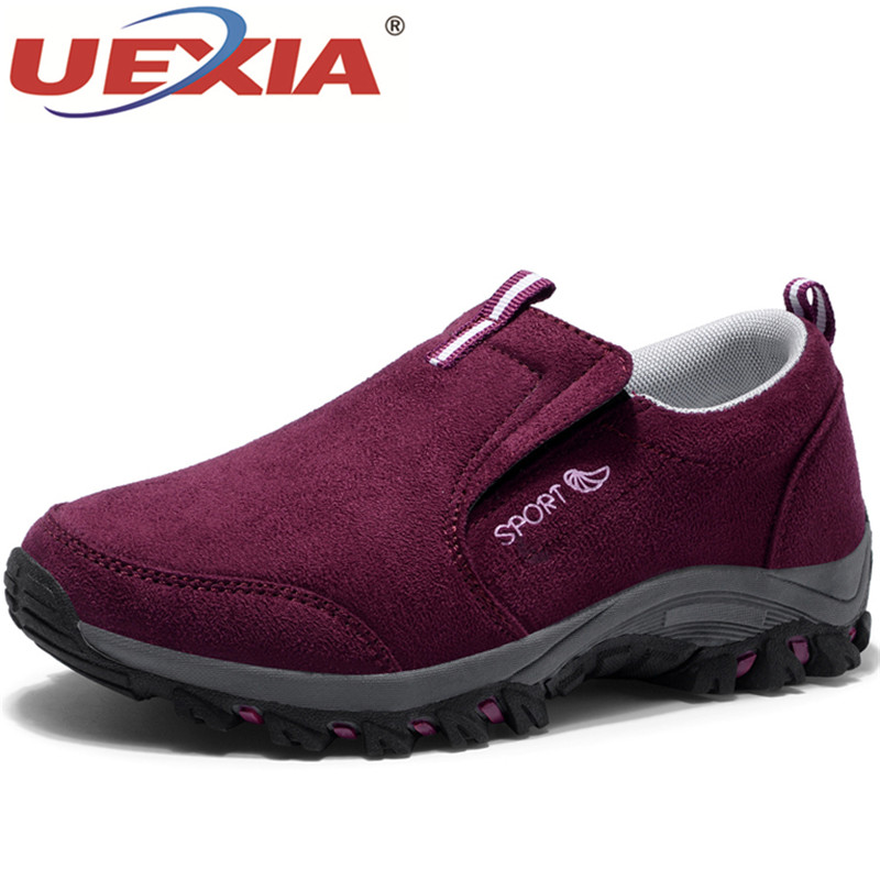 UEXIA Women Casual Shoes Brand Shoes Women Sneakers Flats Mesh Slip On Loafers Breathable Spring Breathable new women s vulcanize shoes spring summer slip on sneakers black casual shoes women breathable hollow out woman sneakers