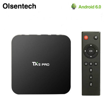 TX5 Pro TV Box Bluetooth 4.0 2GB 16GB H.265 Quad Core Amlogic S905X Android 6.0 2.4G 5.8G WIFI Smart Set Top Box PK X96 H96 Pro+ image