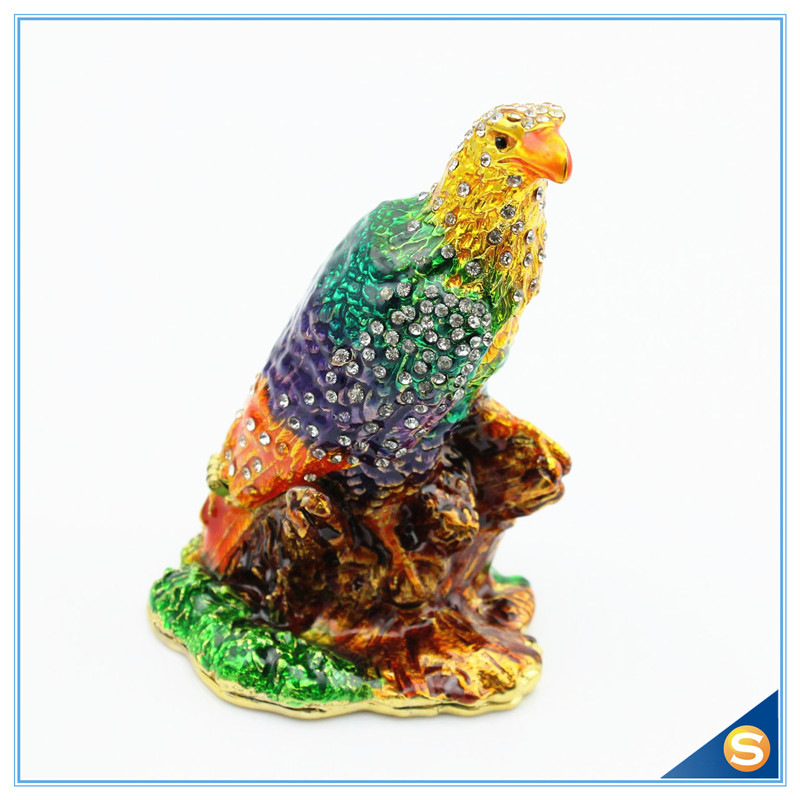 Free Shipping Enamel handmade Eagle Jeweled Trinket Boxes Wholesales