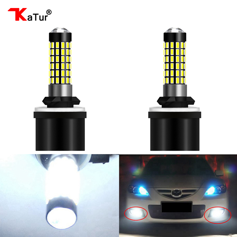 2 Pieces H27 880 Led Bulb For Cars H27W/1 H27W1 Auto Fog Light LED 780Lm 12V 880 LED Bulbs Driving Driving Running Light