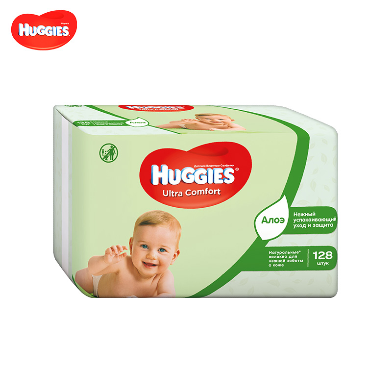 Wet Wipes HUGGIES aloe Ultra Comfort 128 pcs baby wipes baby wipes heater wet towel dispenser thermostat warm wet baby wipes machine heating insulation humidor box eu us plug adapter