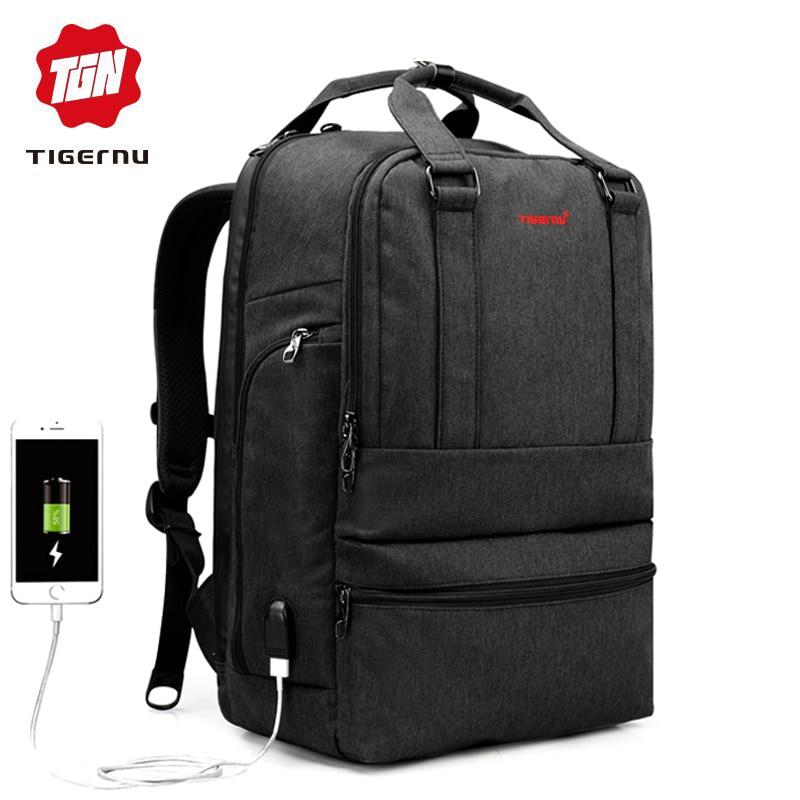 Tigernu 15.6 cal przed kradzieżą laptopa plecak marki jakości plecak szkolny torba moda biznes podróży mężczyzna Mochila mężczyzna kobiet w Plecaki od Bagaże i torby na  Grupa 1