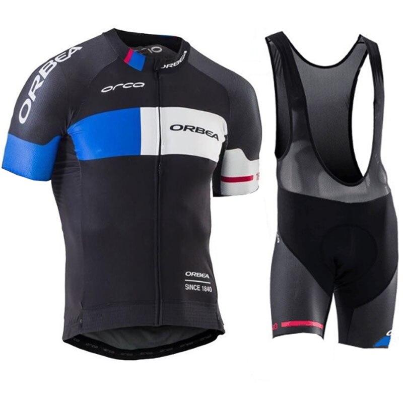 Цена за Новая Команда ORBEA Велоспорт трикотажные изделия 2017 С Коротким рукавом Летом Дышащий Велоспорт Одежда Pro MTB велосипед трикотажные Ропа Ciclismo