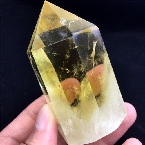 Rare Natural Fluorite Amethyst Citrine Point Gem Crystal Quartz Healing Polished