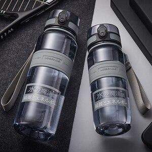 Image 3 - Water Bottles 500/1000ml BPA Free Shaker Outdoor Sport Tour Drink Bottle Portable Leakproof Ecofriendly Plastic Fruit Tea Bottle