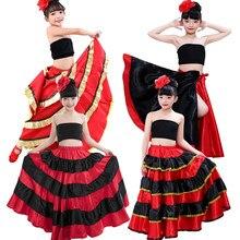 39091a1403 Falda Flamenca para niños vestido de baile de Bullfighting español ropa de  actuación gitana ropa de · 15 colores disponibles
