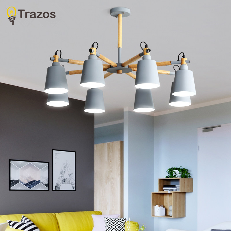 US $76.47 30% OFF|Modern led Chandelier for Kitchen Dining Room Living Room  Suspension luminaire Hanging Pink Blue Bedroom Chandeliers Fixtures-in ...