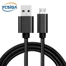 5V 2.4A USB2.0 Android micro usb nylon Charging cable,micro usb interface For vivo X21/OPPO R15/Huawei Mate 8/Samsung S7 cable цена