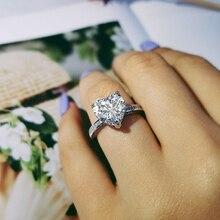 Новое поступление, модное кольцо в форме сердца из стерлингового серебра 925 пробы для свадьбы, помолвки, влюбленных девушек, ювелирные изделия на палец R4325