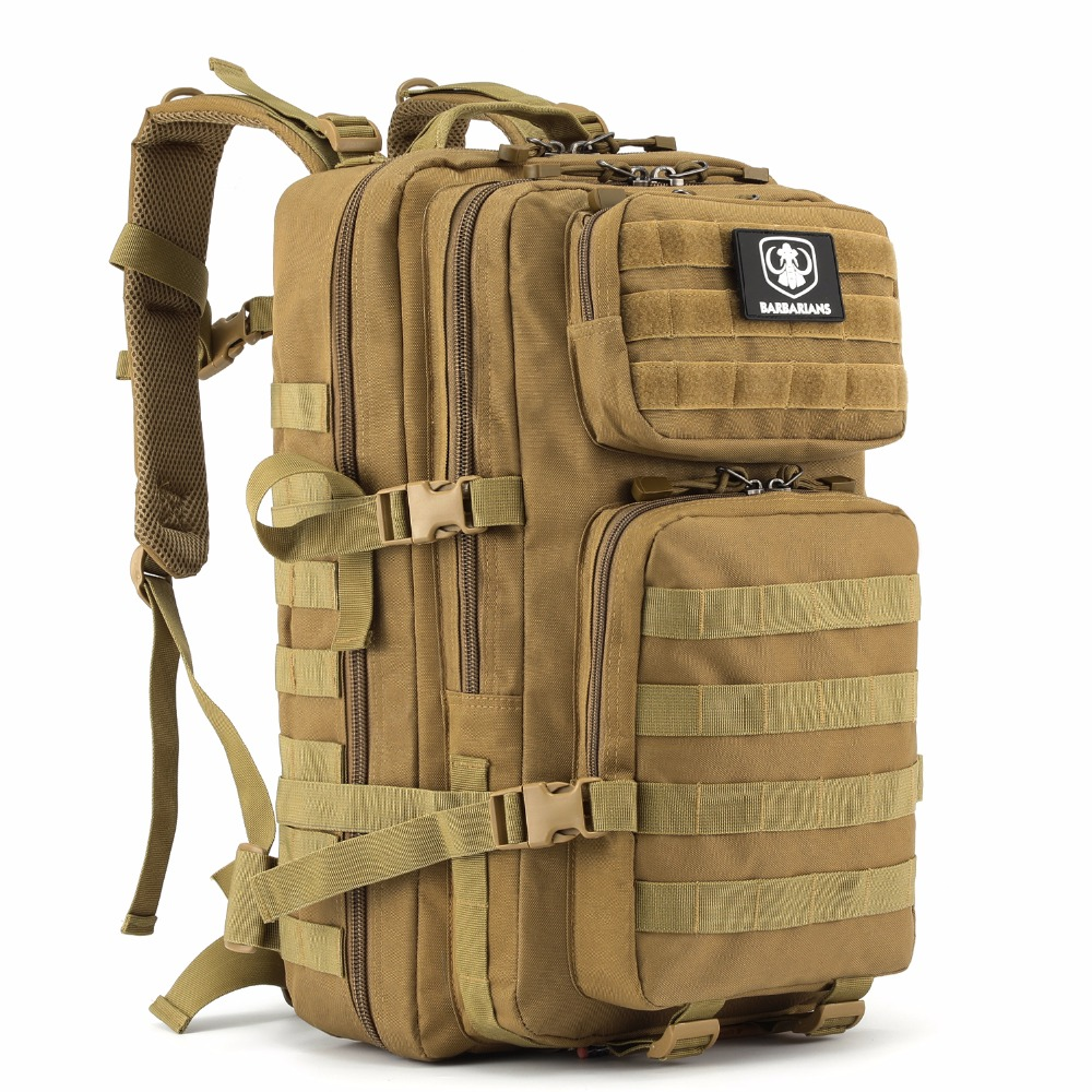 Barbarians 35L Tactical Military Backpack Molle Bug Out Bag Rucksack for Outdoor Hiking Camping Trekking Hunting