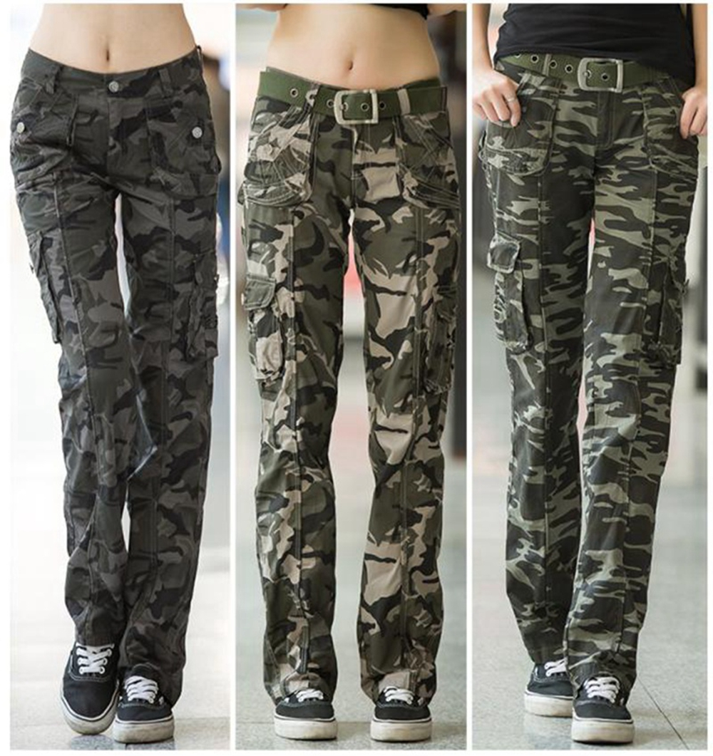 Popular Sexy Women39s Army Green Camouflage Casual Pants Fashion Sports