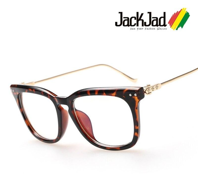 Jackjad 2020 moda design da marca de metal perna quadrada simples óculos unisex vintage clássico óculos quadro oculos de grau